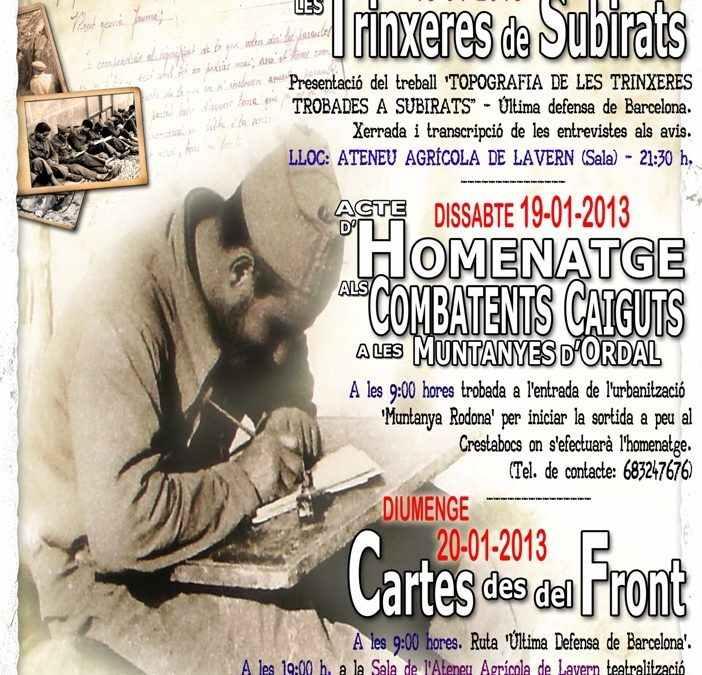 III Jornades de recuperació de la Memòria Històrica a Subirats