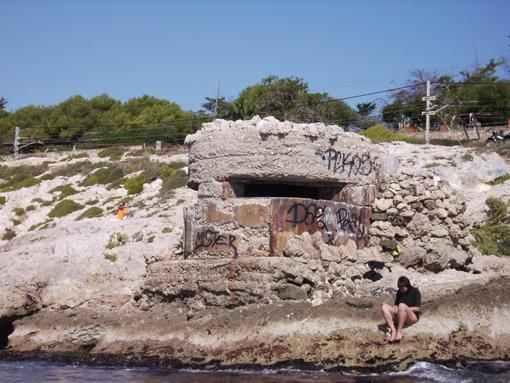 Patrimoni Bèl·lic existent a la platja del Far de Vilanova i la Geltrú