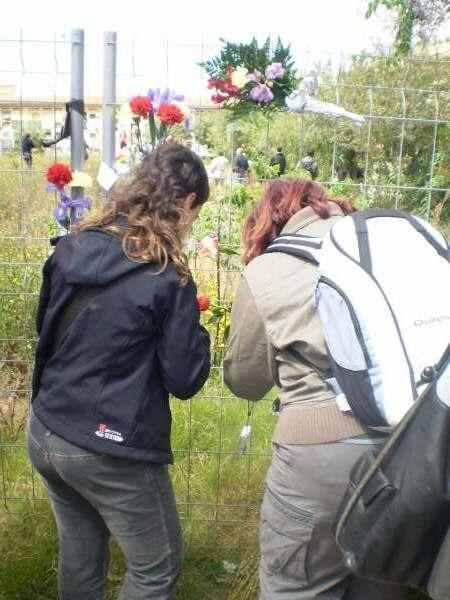 Homenatge a les victimes de la represió enterrades al cementiri de València...