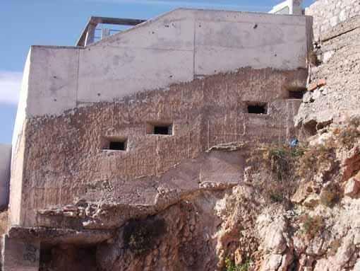 Patrimoni Bèl·lic existent a la platja de Sant Gervasi de Vilanova i la Geltrú...