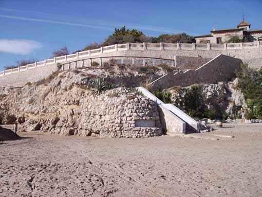 Patrimoni Bèl·lic existent a la platja de Sant Gervasi de Vilanova i la Geltrú 1