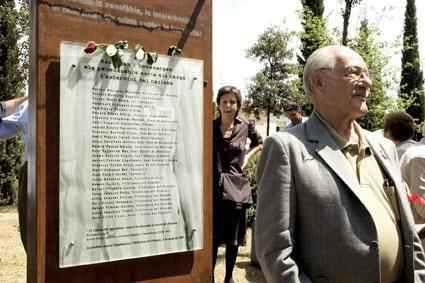 Monòlit en Homenatge als Morts penedesencs als Camps d'Extermini Nazis...