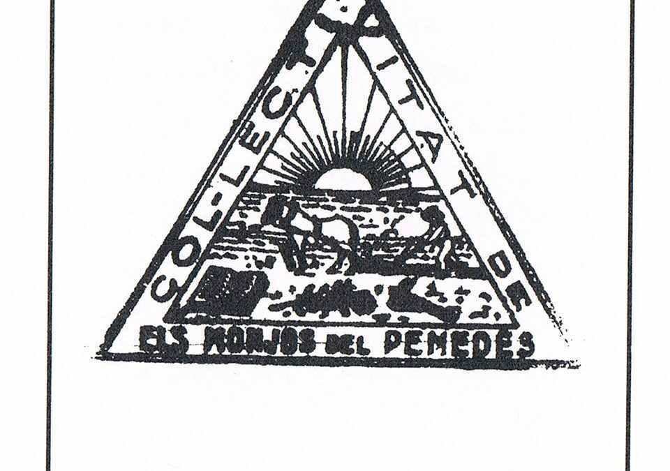 Segell de goma de la Col·lectivitat de Monjos del Penedès