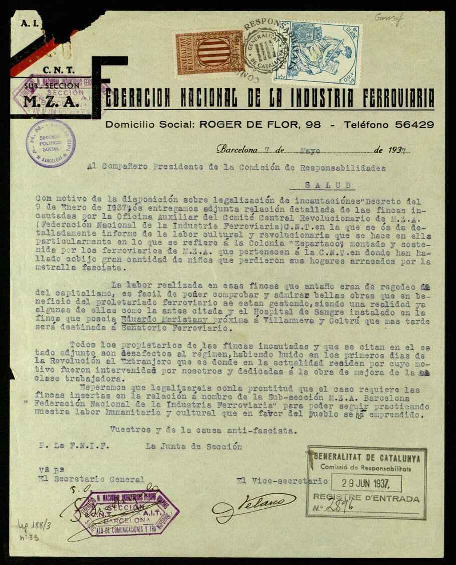 Vilanova i la Geltrú. Colonia Espartac ANC...