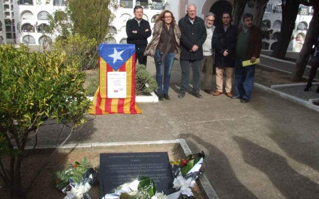 Record dels soldats republicans del cementiri de Torrelles de Foix
